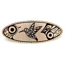 "Handcrafted 3.5"" Native American Style Hummingbird Copper Art Barrette Hair Clip"
