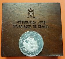 ESPAÑA 00000 Pesetas 1988 PRUEBA en PLATA tipo 40000 Pts V CENTENARIO 1989/1992