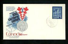 Postal History Canada FDC #629-632 SET OF 4 Fleetwood Montreal Olympics 1974