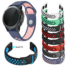 Silicone Watch Strap for Garmin Approach S60 Fenix 5 Plus Band Sweat-proof Belt
