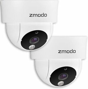 Zmodo 720P HD Indoor Dome Security Camera Pack of (2) ZP-IDQ13-S (WIRED VERSION)