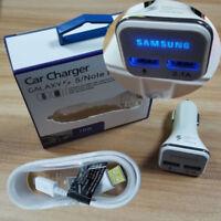 New Original LED Adaptive Fast Car Charger Dual USB For Samsung Galaxy A7 2018