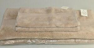 NEW Waterworks 4 PC SET Estrela Hand Washcloth Towels Towel Wheat Beige