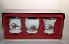 3 Lenox Holiday Tartan Votive Candle Holders Dimension Collection Original Box