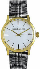 Orologio RoccoBarocco RB0048 Cassa gold acciaio uomo classic moda bianco