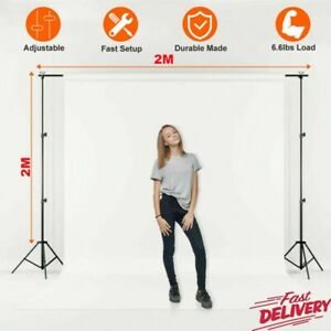 Photography Studio Background Support Stand White Screen Backdrop Photo Kit UK