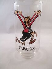 Olive Oyl from Popeye Drinking Glass 1975 Coca-Cola Kollect-A-Set Series