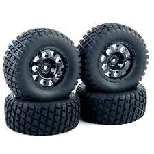 Short Course Ruber Tires Wheel Rims 4Pcs Set For 1:10 RC TRAXXAS SlASH Car Truck