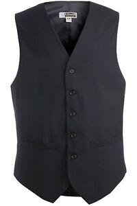 Men's High-Button Wool Blend Vest