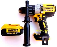 "New DeWalt DCD996 20V Brushless 1/2"" Hammer Drill, 1) DCB204 4.0 Battery 20 Volt"