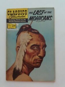 Classics Illustrated #4 - THE LAST OF THE MOHICANS - HRN 166 - VG