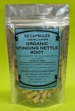 Organic Stinging Nettle Root Caps Support Prostate Health (Urtica Dioica)500 Mg