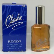 Charlie Revlon Concentrated Cologne Spray 1.15 oz  BOXED , FULL