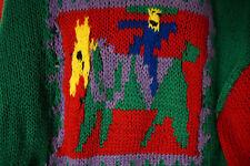 Children's Ugly Jumper OOAK Kids' Folk Art Hand-Knit Jumper Sweater Craft Fail