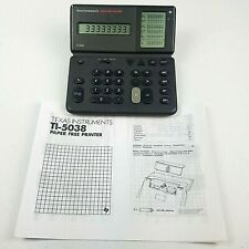 Vintage Texas Instruments TI-5038 Calculator Paper Free Printer Display Battery