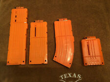 Nerf Lot- 4 Magazines (6  to 18 round mags) and 50 darts