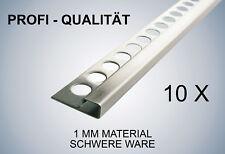 Edelstahl Schiene Fliesenschiene Fliesenprofil 250cm Gebürstet 15mm Quadro