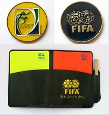 Football Soccer Referee Flip Toss Coin with Leather Wallet+Red Yellow Card