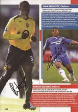 ARSENAL & CHELSEA: GILBERT & BRIDCUTT SIGNED A4 (12x8) BOOK/ANNUAL PICTURE+COA