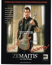 2008 ZEMAITIS GSMF501 Electric Guitar KEITH NELSON of Buckcherry Vintage Ad