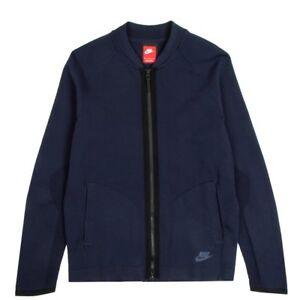 Nike Mens Tech Knit Full Zip Bomber Jacket Black 810558-451