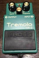 Used Boss Tremolo TR-2 Tremolo Guitar Effect Pedal Free Shipping from JAPAN