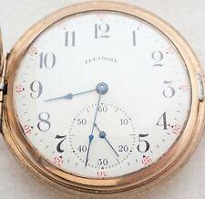 305 Gold Filled Hunter Pocket Watch Antique 16S Illinois 17 Jewel Grade