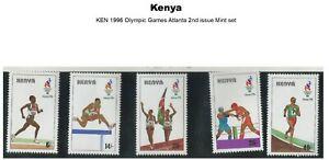 Stamps Kenya 1996 Olympics Atlanta 2nd issue Full set MNH