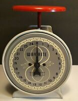 Vintage WAY RITE Metal Household Scale 25 Pounds Chicago USA WORKS