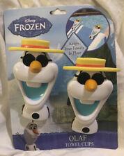 New Frozen Olaf BocaClips by Bt Beach Towel Holder Clips Set of 2 . Disney