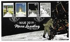 2019   NIUE  -  50th ANNIVERSARY OF MOON LANDING  - STAMP SET ON FDC