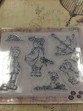 KARSclear stamp set windy day, umbrella, dog, toadstall, hedgehog, Girl & Boy