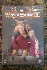 WWF - WrestleMania 9 IX (DVD, 2013)NEW Authentic