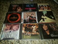Movie Soundtrack Lot Of 9 CDs Titanic Bodyguard Armageddon Waiting to Exhale