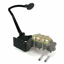 37-39 Chevy Manual Brake Pedal kit Disk/DrumSm Oval Blk Pad frame mount master