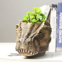 Resin Dinosaur Flower Pot Dinosaur Head Trex Flower Planter Plant pots Succulent