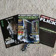 Godzilla Merchandise Pack 3 Magazine Trading Card Action Figure Toy Jean Reno