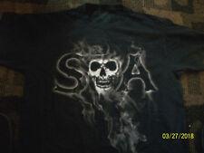 SONS OF ANARCHY SAMCRO SKULL SMOKE SHIRT  SZ LARGE COOL