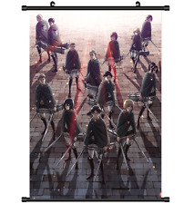 Hot Japan Anime Attack on Titan Poster Wall Scroll Home Decor 8