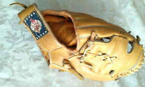 VINTAGE ALL STAR Baseball Glove Antique Cow Leather Professional Model FR1001