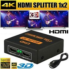 HDMI Splitter 1 input 2 output 4K 2160p 1 in 2 out Switch Box Hub Cable PC Ps4