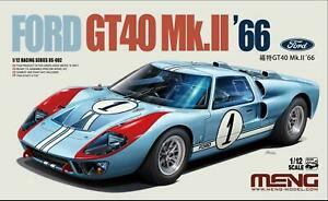 new tool MENG RS-002 1/12 1966 FORD GT40 Mk II model building kit new in the box