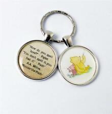 Winnie The Pooh Keyring, Piglet Keychain, Pooh Keyfob, Best Friends Gift, Pooh