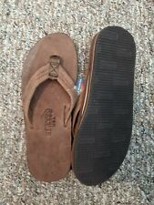 Ranbow Sandals Mens Size Large,Brown Leather