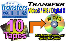 REEL TRANSFERS - Convert Video8/Hi8/Digital8  to DVD    TEN TAPE SPECIAL!