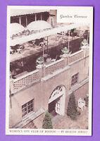 MASSACHUSETTS - BOSTON, WOMEN'S CITY CLUB, GARDEN TERRACE POSTCARD 2206