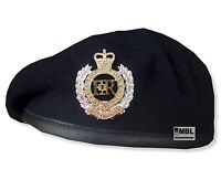 ROYAL ENGINEERS NAVY BLUE BERET or BERET & OFFICIAL RE CAP BADGE SIZES 52 - 62cm