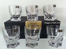 6 verres à whisky Acapulco CRISTAL DE BOHEME ( crystalite ) boite cadeau