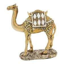 New Mirror and Gold Camel Standing Statue Ornament Figurine 14cm 65029
