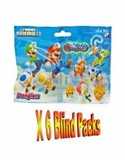 6 x Super Mario Danglers Collectable Danglers Figure Charms  Blind Bags
